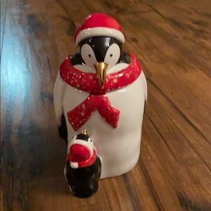 Spode penguin candy jar